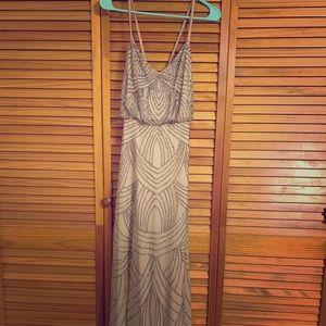 Adrianna Papell beaded bridesmaid dress!